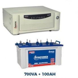 Microtek 700VA Sinewave Home Inverter + 100 AH Tublar Battery Combo