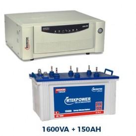 Microtek 1600 Sinewave Home Inverter + 150AH Double Tall Tubular Battery Combo