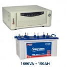 Microtek 1600 Sinewave Home Inverter + 150AH Double Tall Tubular Battery Combo
