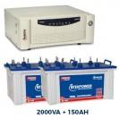 Microtek 2.3KVA Inverter With 150AH Tall Tubular Double Battery Combo