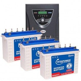 Microtek 3KVA Inverter with 150AH Tall Tubular 3 Batteries Combo